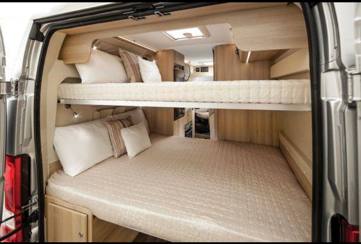 Bunk Beds Camper Van Van Life Pinterest Camper Camper Van And