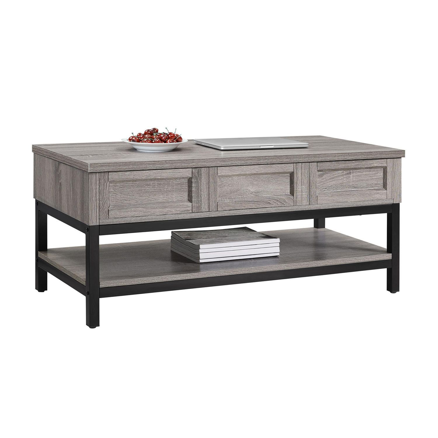 Whisperwood Lift Up Weathered Oak Coffee Table Coffee Table