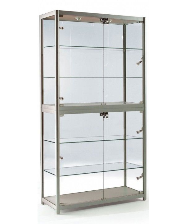 Lovely 1000mm Folding Aluminium Glass Display Cabinet Fg 1000 31