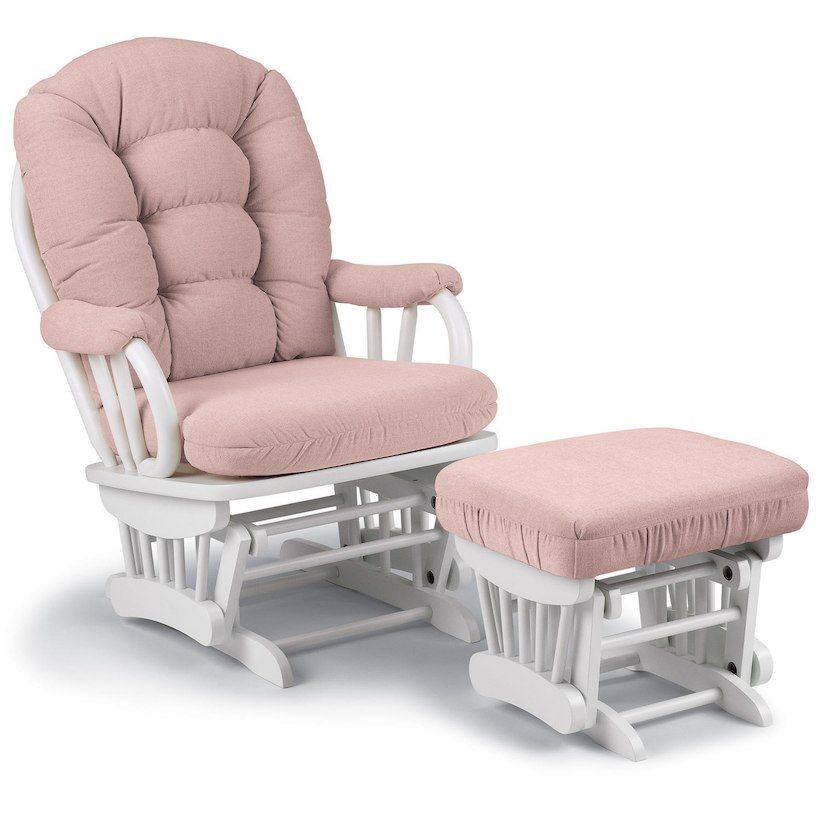 Wondrous Best Chairs Geneva Ottoman White Blush New Mommy To Be Pabps2019 Chair Design Images Pabps2019Com