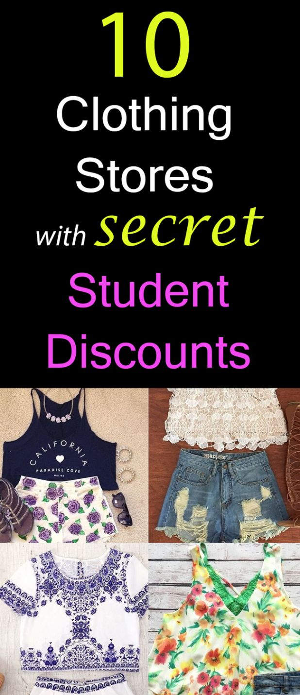 3198f45a7f4 10 Clothing Stores with Student Discounts You Didn't Know About ...