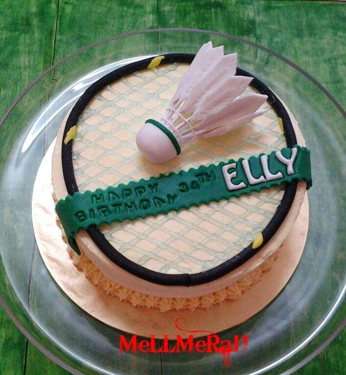 Badminton Cake Fondant Cake Cake Sport Cakes Badminton
