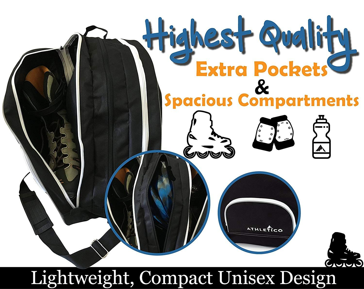 Pin It For Later Find Out More Inline Skating Backpack Features Two Large Main Pockets Large Enough To Carry Ice S In 2020 Inline Skating Inline Skate Skate Backpack
