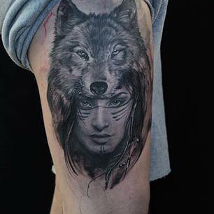 Native American16 Wolf Tattoos Sleeve Tattoos For Women Native American Tattoos