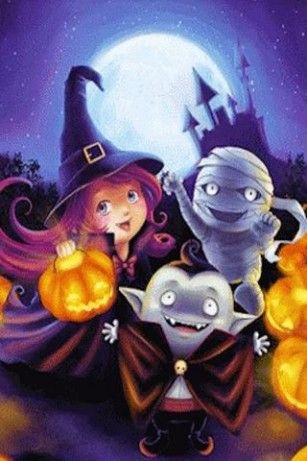 Cute Halloween Live Wallpaper For Android Halloween Artwork Halloween Live Wallpaper Halloween Illustration