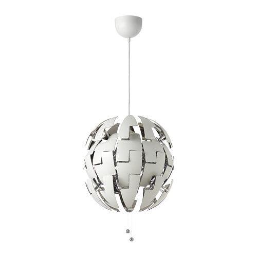 IKEA PS 2014 white, silver colour, Pendant lamp, 35 cm