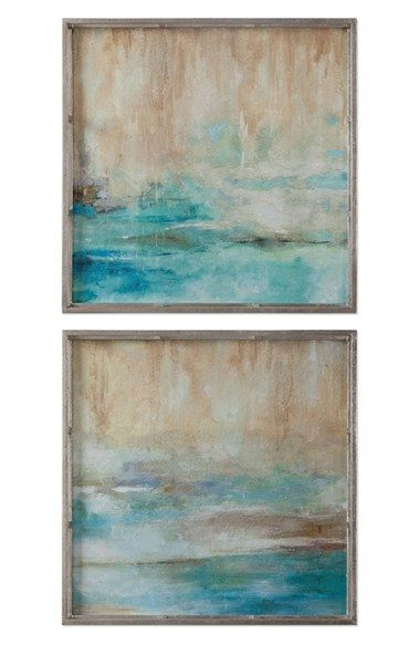 Wall Art Set Of 2 uttermost 'through the mist' abstract framed wall art (set of 2