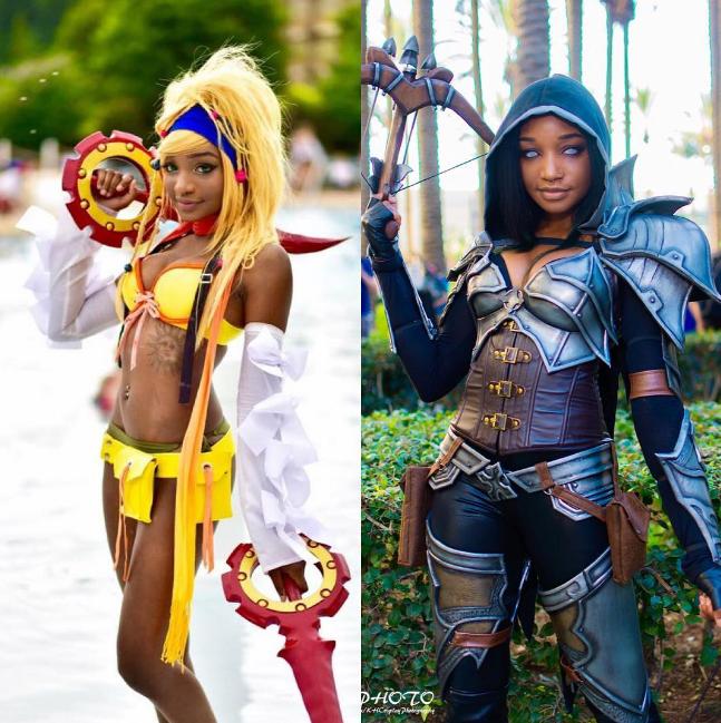 Pics Meet Instagrams Black Cosplay Queens  Black -4382