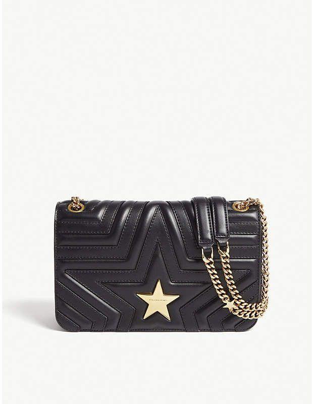 3bbf6c615465 Stella McCartney Ladies Black Modern Quilted Star Shoulder Bag ...