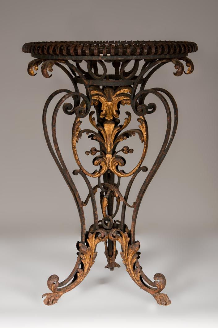 Louis Xv Style Brazier In Gilt Wrought Iron Rococo Pinterest