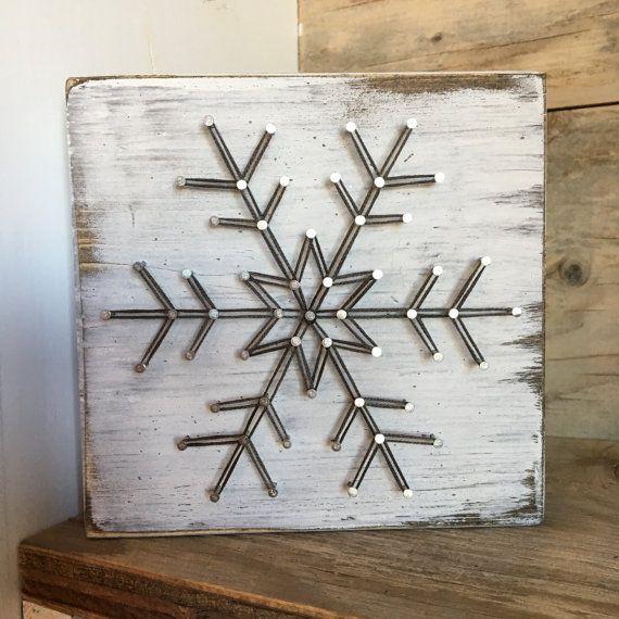 Ähnliche Artikel wie Mini Snowflake String Art auf Etsy #stringart