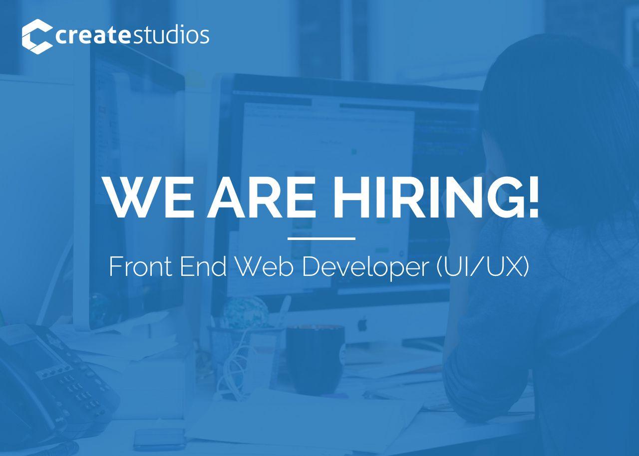 WE'RE HIRING! We're looking for a Front End Website Developer (UI/UX). https://goo.gl/9oEeC2