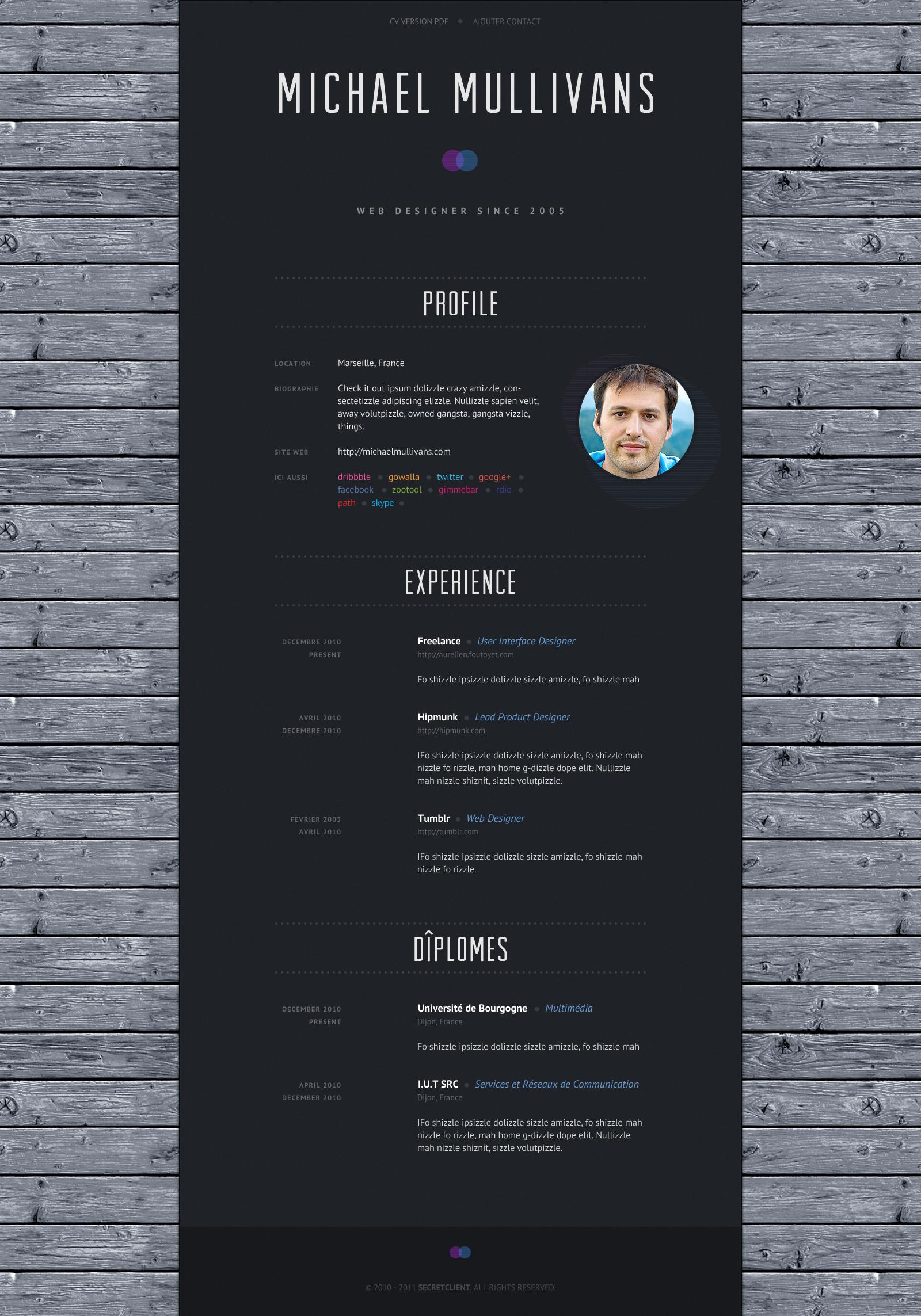 Dribbble Resume Dribbble Largepreview Png By Aurelien Foutoyet Resume Design Creative Graphic Resume Cv Design