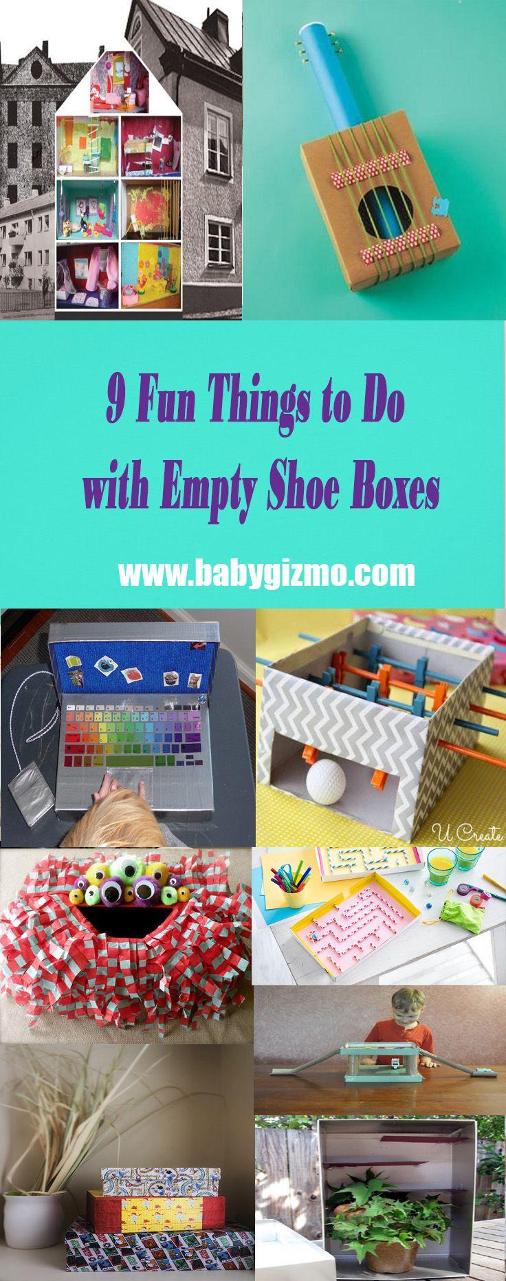 9 Fun Things To Do With Empty Shoe Boxes Baby Gizmo Shoe Box Diy Shoe Box Crafts Fun Diys