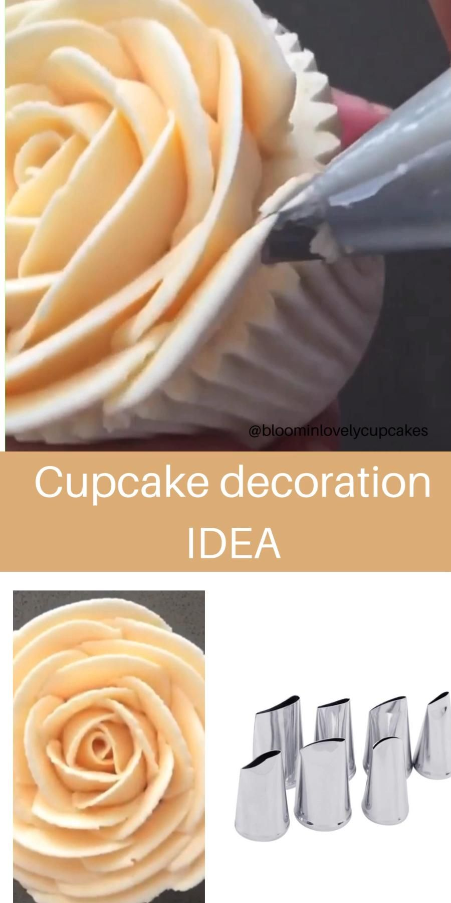 Photo of Cupcake decoration idea with piping tips