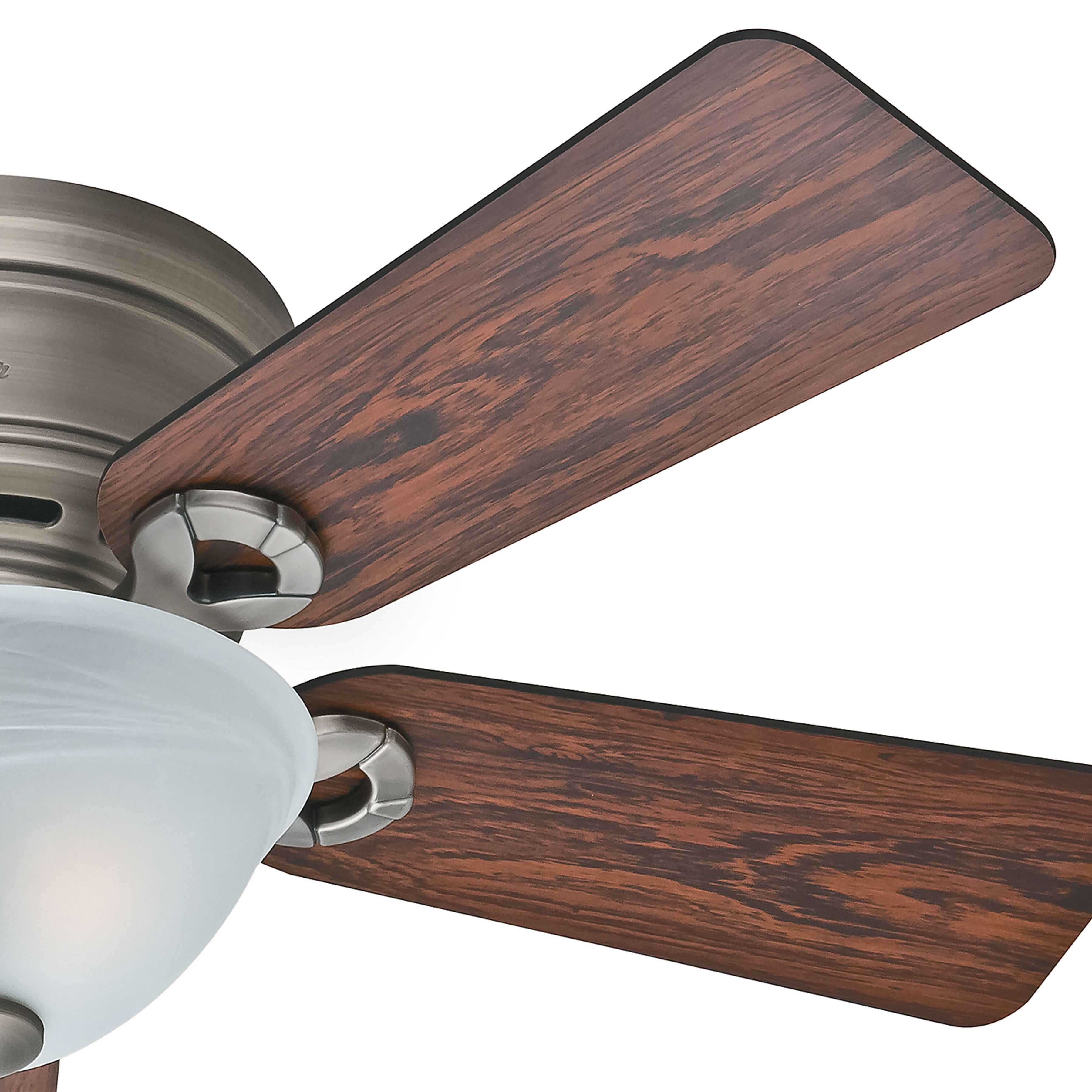 Hunter 42 Inch antique pewter finish low profile Ceiling Fan