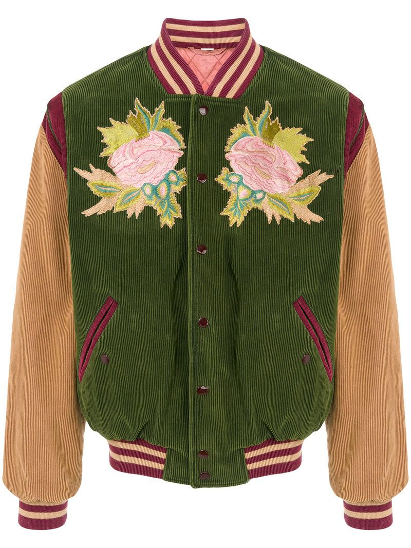 GUCCI GUCCI - CORDUROY EMBROIDERED BOMBER JACKET .  gucci  cloth   2696b65bf1