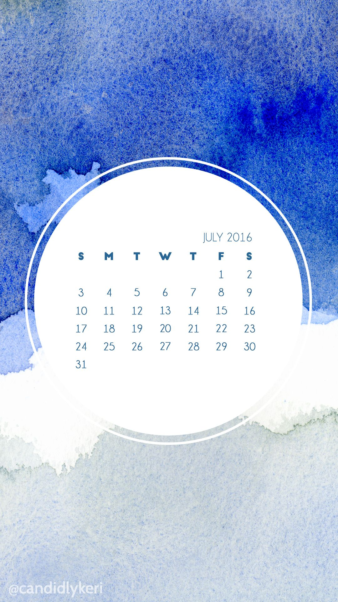 dark blue and grey watercolor july 2016 calendar wallpaper free download for iphone android or desktop