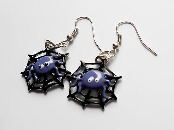 CLEARANCE SALE, Spider Earrings, Halloween Earrings, Spooky, Costume Earrings, Cosplay Earrings, Fairytale Earrings, Fantasy Earrings