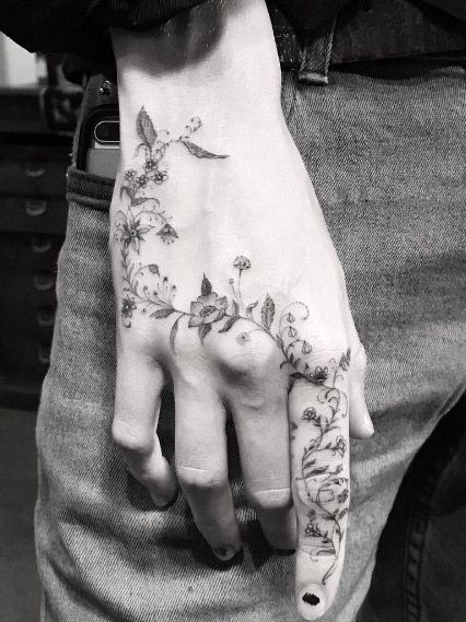 Floral Hand Piece By Dr Woo