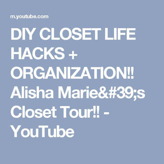 Diy Closet Life Hacks Organization Alisha Marie S Tour You