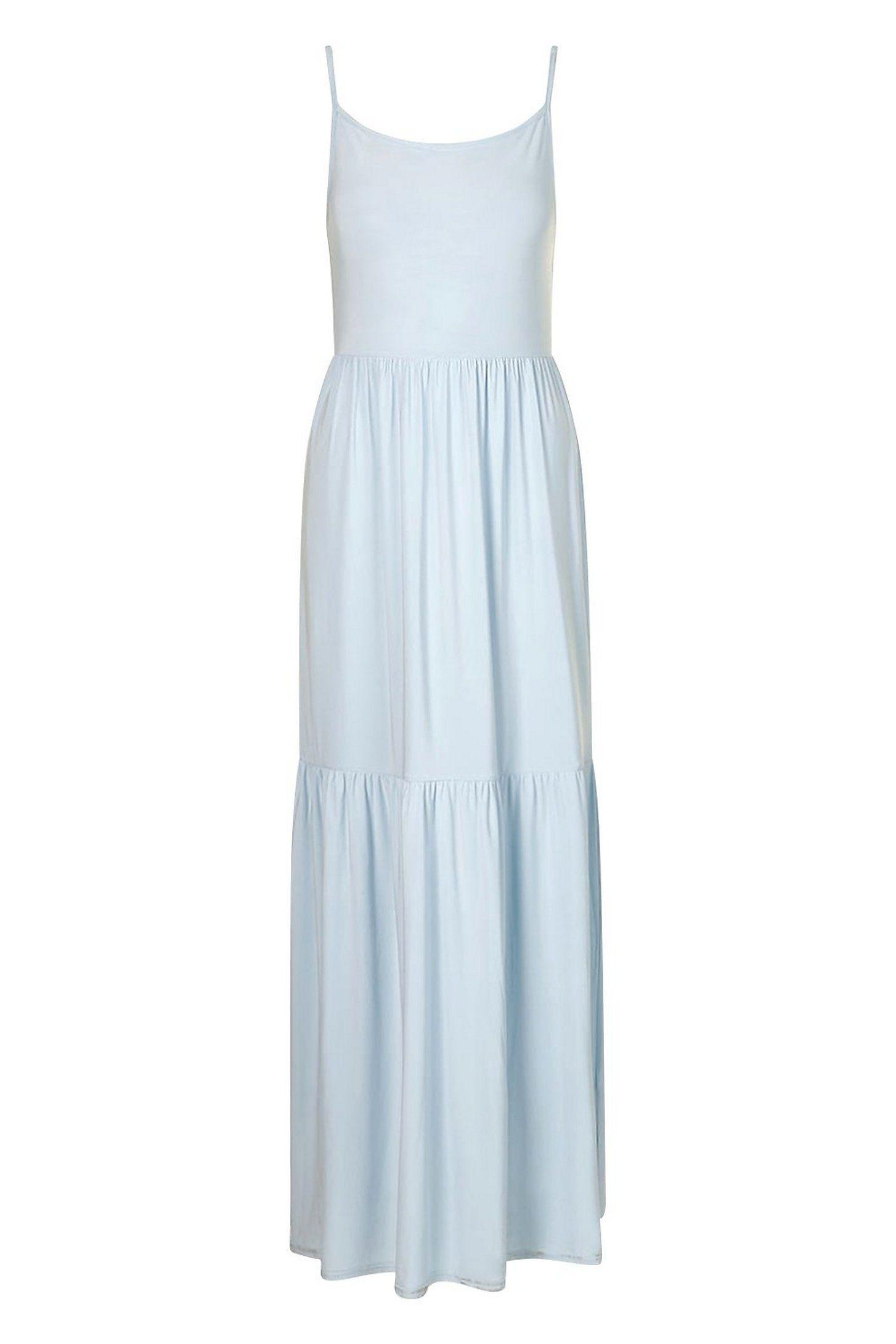 Tiered Strappy Maxi Dress Boohoo Maxi Dress Dresses Maxi Dress Collection [ 2181 x 1454 Pixel ]