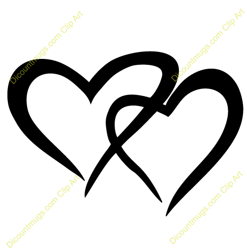 Two Hearts Two Hearts Tattoo Small Heart Tattoos Henna Designs Drawing