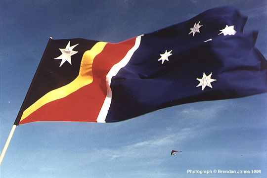 One Of The Proposed New Australian Flag Incorporating The Aboriginal Flag And Withdrawing The Union Jack Australian Flags Aboriginal Flag Flag