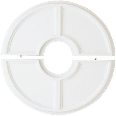 Split Design White Ceiling Medallion 7703400 At The Home Depot