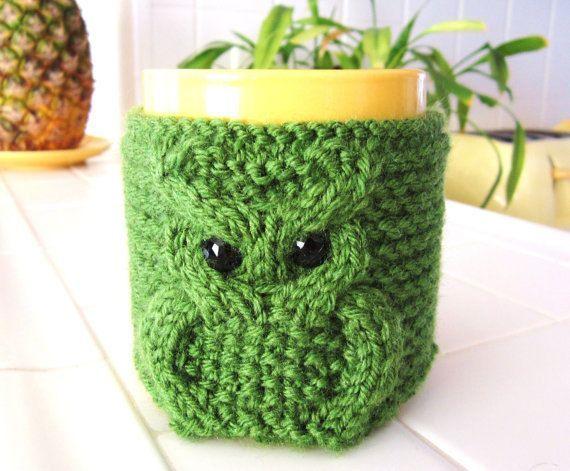 Knitted Mug Cozy Recherche Google Knitting Is Von Pinterest