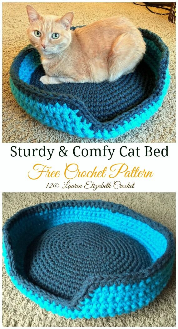Crochet Cat House & Nest Bed Patterns & Instructions