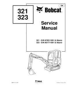 Best download bobcat 321 323 compact excavator service