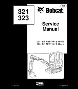 Best download bobcat 321 323 compact excavator service