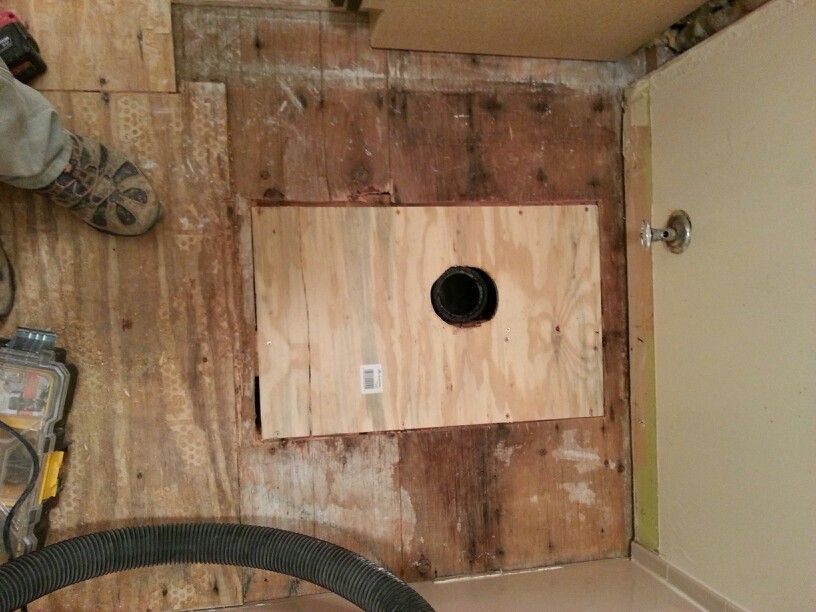 Repair Of The Rotted Subfloor At The Toilet Interior Design