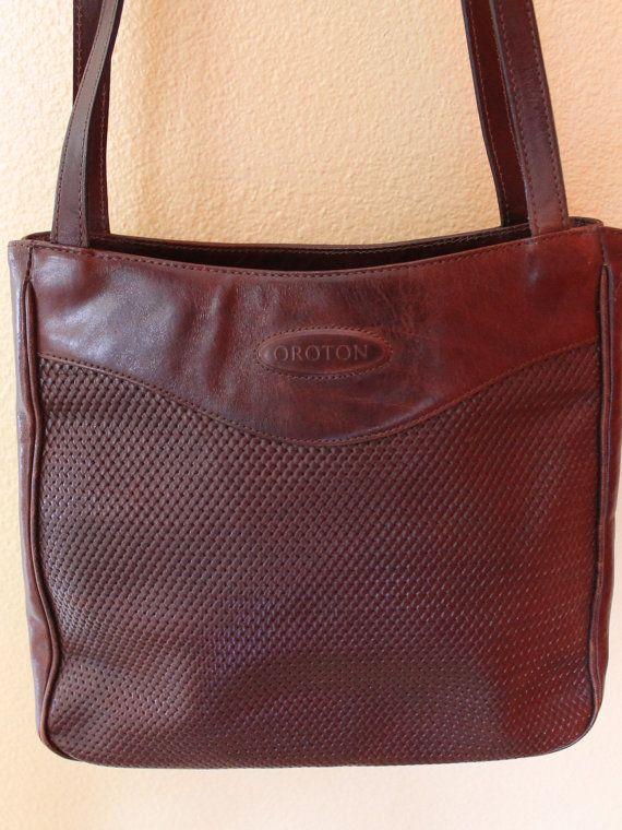 Gorgeous Oroton Leather Handbag By Californiapicks On Etsy 29 99 Handbags Totes Bags