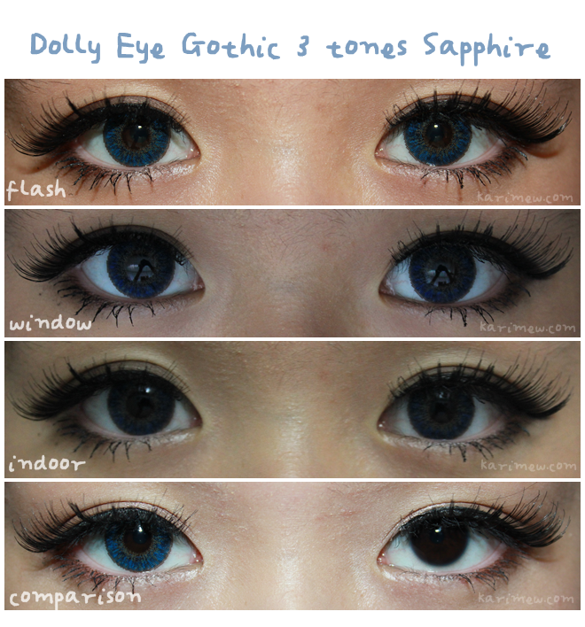 Dolly Eye Gothic 3 tones Saphire are beautiful blue circle ...