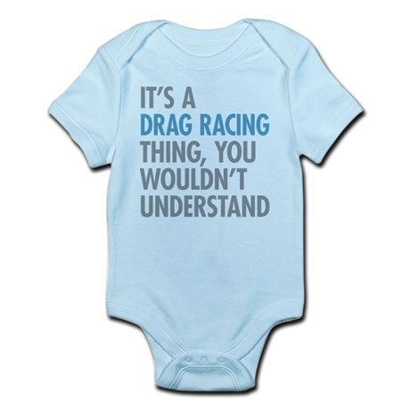 121ada1aa883c Drag Racing Thing Baby Light Bodysuit   Drag racing   Baby bodysuit ...