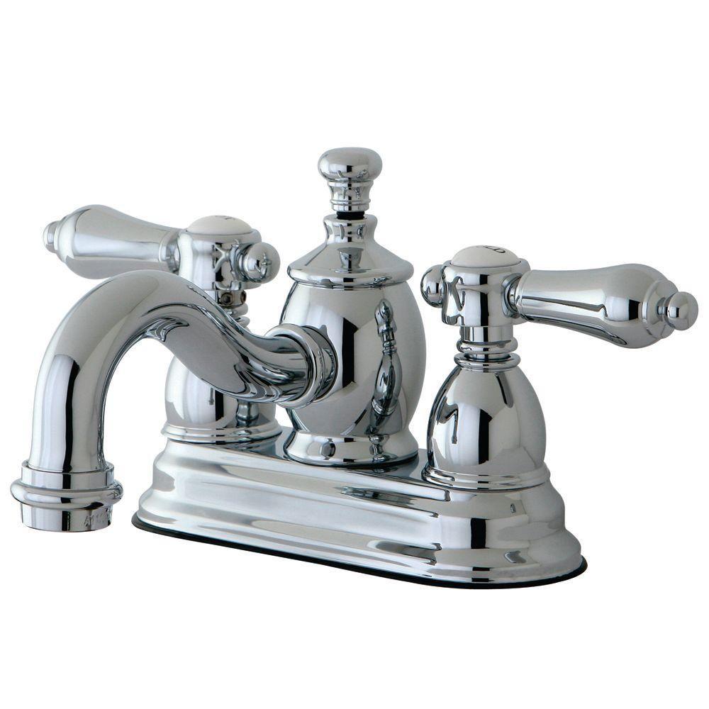 Kingston Brass Victorian 4 in. Centerset 2-Handle Mid-Arc Bathroom ...