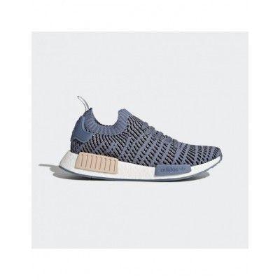 31607fffc1df5 Women s CQ2029 Adidas NMD R1 STLT Primeknit Shoes Blue Adidas Nmd R1
