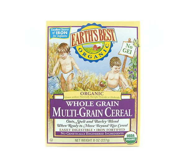Organic Cereals, Also From Earth's Best.