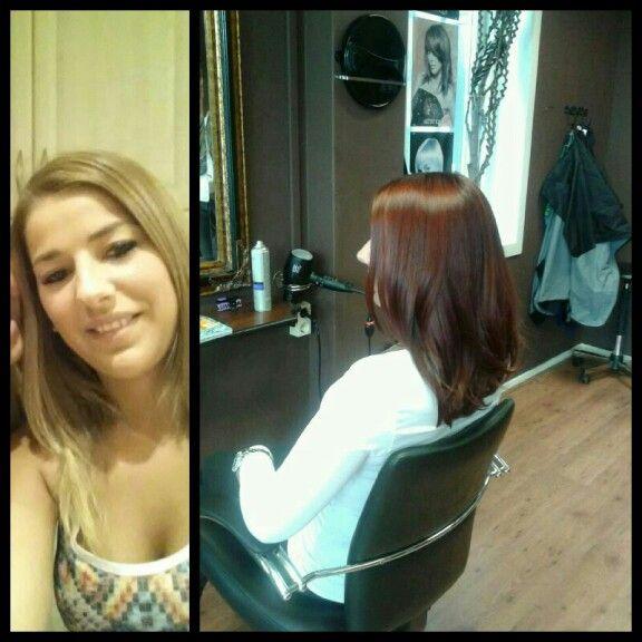 Nieuwe haarkleur♡♥