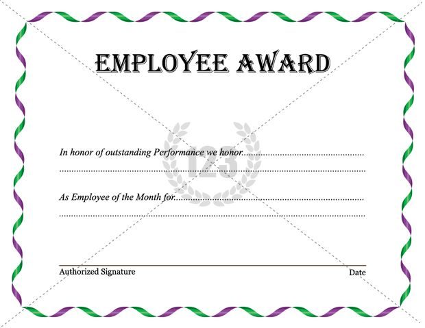 Best employee award template download now for Employee of the month certificate template free download
