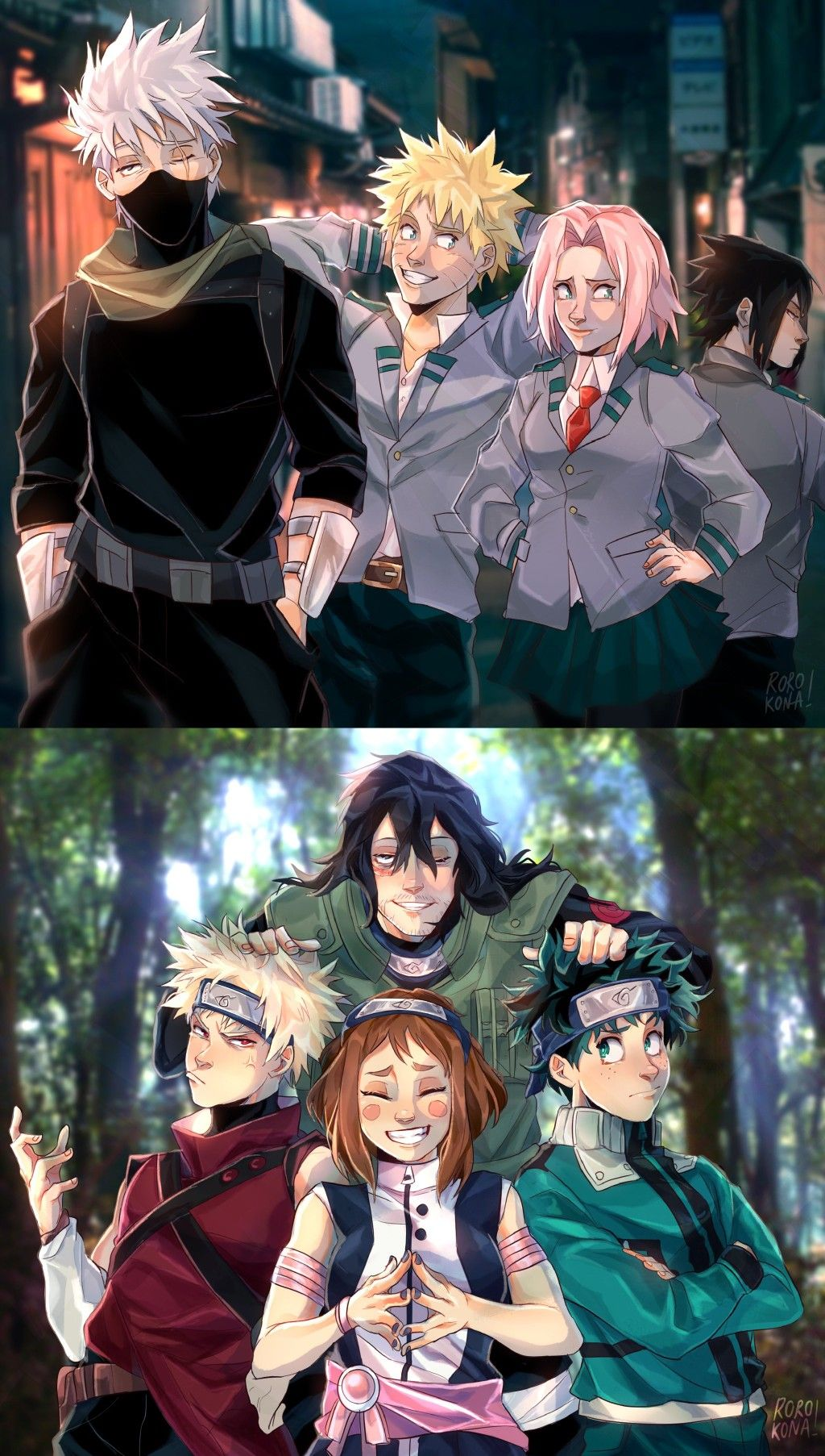 Naruto X MHA Crossover in 2020 Anime crossover, Anime
