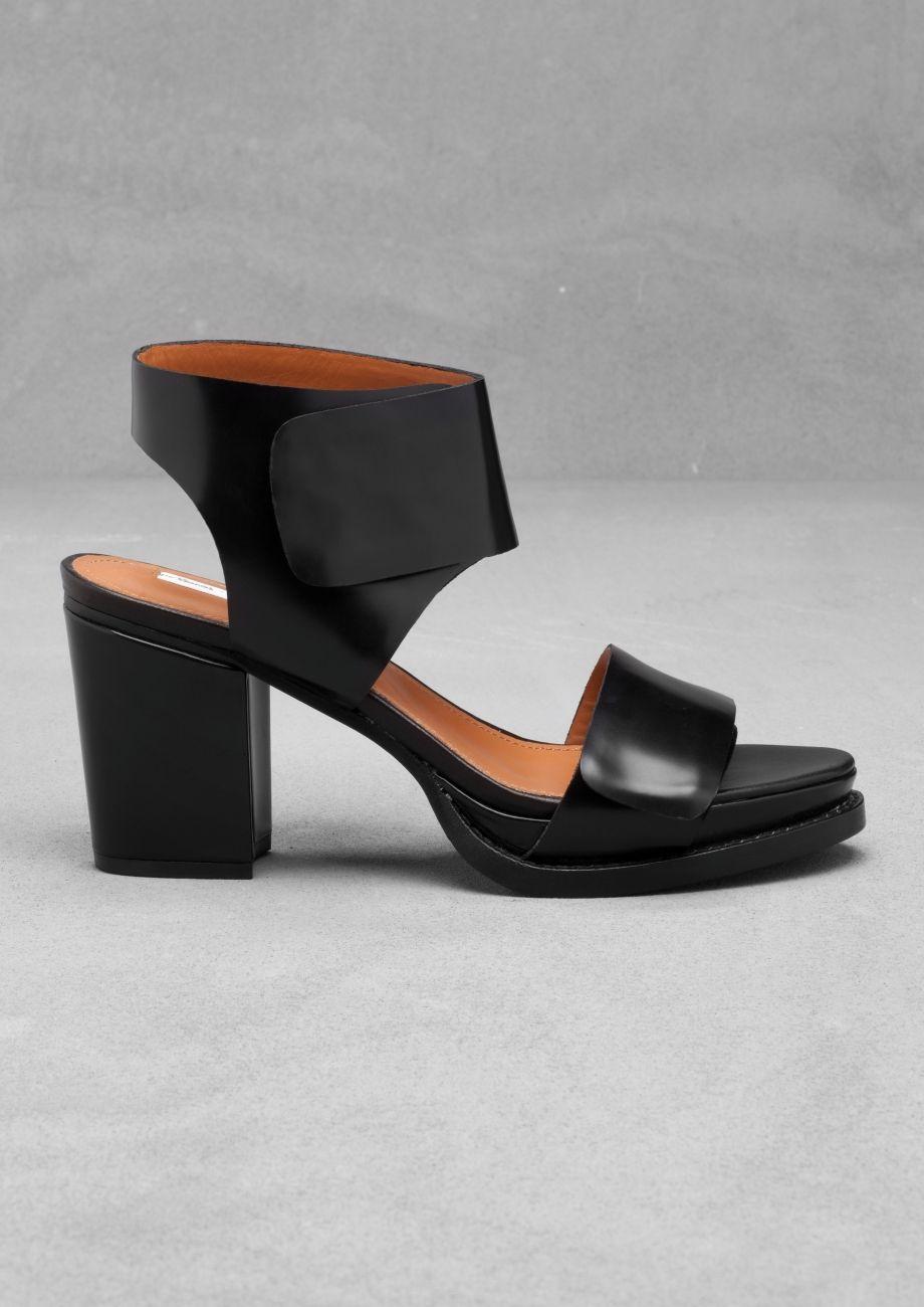 Block Heel Sandals   Black   & Other Stories 75 euros