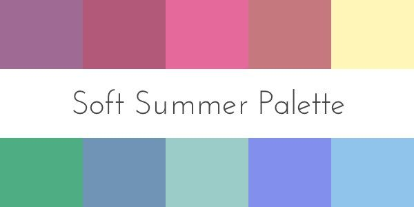 Soft Color Scheme Color For Your Skin Tone Summer  Soft Summer Palette Soft .