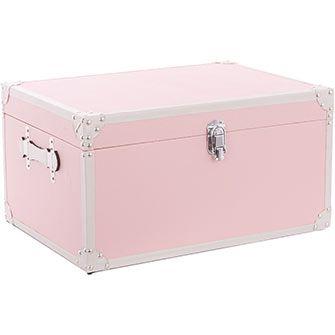 Incroyable Great British Storage Co Medium Pastel Pink Storage Trunk