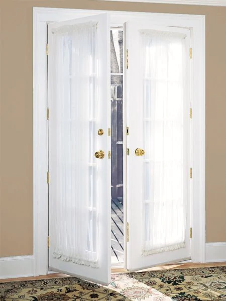 Classic Sheers Rod Pocket French Door Panel In 2020 French Doors