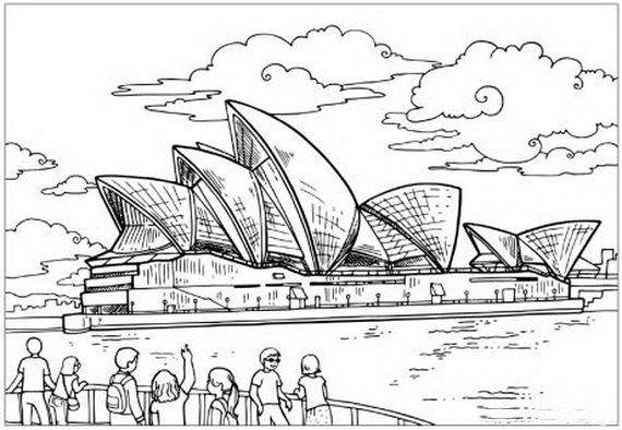Australia Day Coloring Pages For Kids Desenhos Para Pintar