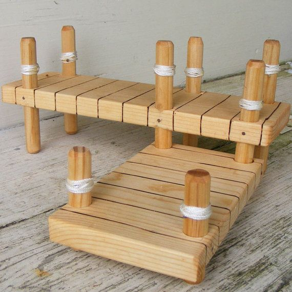 Wooden Toy Boat Dock by ToyBoatWorks on Etsy | Visit us on Etsy | Pinterest | Boats, Toys and ...