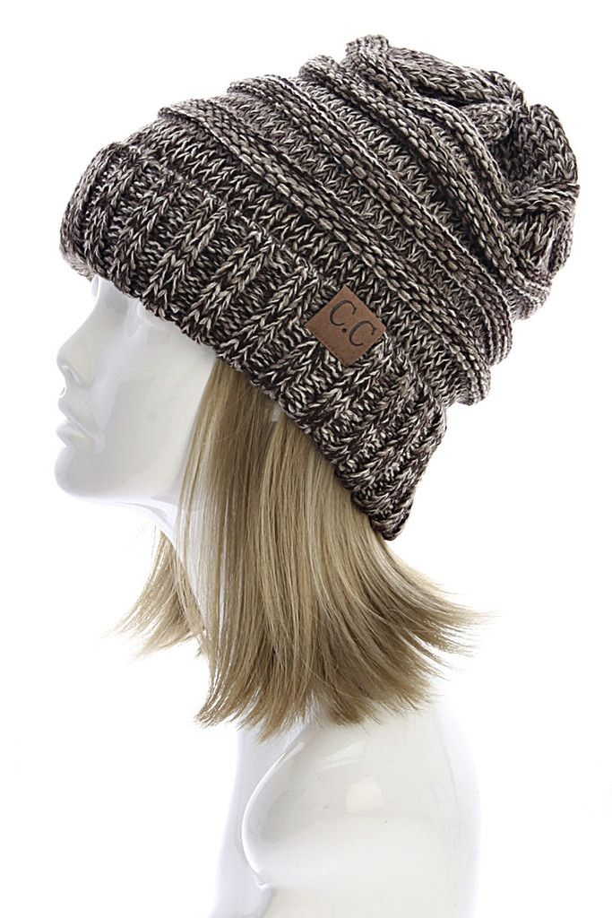 CC Slouchy Beanie in Brown – Sweater Weather Co.  2a79ce1d96d